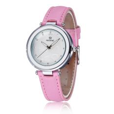 Skone Women Fashion Rhinestone Watches Casual Dress Quartz Ladies Brand Bracelet Watch Pink (Intl)