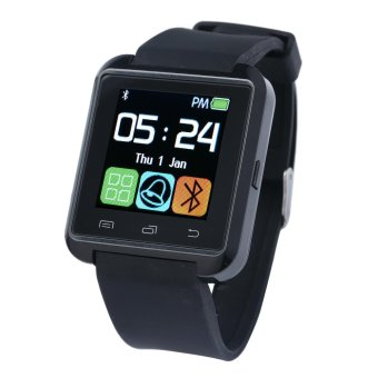SOBUY U8 Smart Bluetooth Watch Call Message Reminder Sleep Monitor for Android - Black - intl