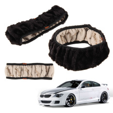 Soft Wool Plush Fuzzy Auto Car Steering Wheel Cover Universal For Winter (Intl)