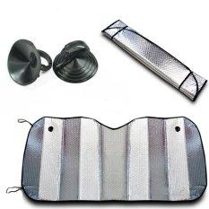 SOWIKANSHOP Car Sun Shield - Penahan Panas Kaca Depan Dan Dashboard Mobil Model Lipat Aluminium