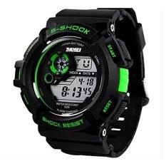 Sport Watches 30m Waterproof Multifunction Climbing Dive LCD Digital Watches Men's Wristwatch Green - Intl