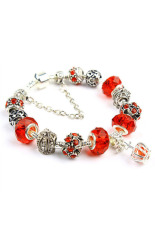 Sporter Women Crown Crystal Beads Bangles Chic Red (Intl)