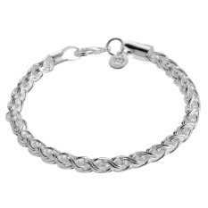 Sterling Bracelet Band Women Makeupjewelry Treasure Silver (Intl)