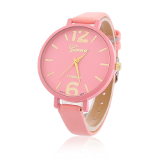 Student New Authentic Small Fresh Wind Small Electronic Watches Quartz Watch Leather Strap Digital Watch Pink