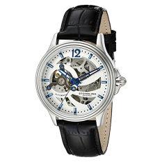 Stuhrling Original Men's 170.33152 Classic Delphi Helix Automatic Skeleton Silver Dial Watch (Intl)