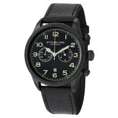Stuhrling Original Men's 482.33551 Champion Victory Velo Quartz Chronograph Date Black Dial Watch (Intl)