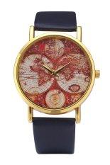 Style Maps Geneva Super Popular Beautiful PU Leather Quartz Wrist Watch (Leopard Print) (Intl)