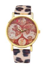 Style Maps GENEVA Super Popular Beautiful PU Leather Quartz Wrist Watch (Leopard Print)