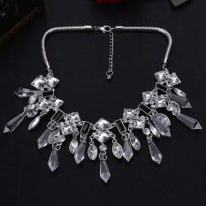 Supercart Retro Style Women's Elegant Rhinestone Crystal Choker Necklace (White)