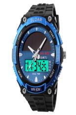 SuperCart The Great Sport Watch Water-Resistant LCD Watch Wrist Watch (Blue) (Intl)