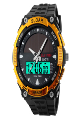 SuperCart The Great Sport Watch Water-Resistant LCD Watch Wrist Watch (Gold) (Intl)