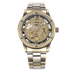 Svoovs SH045 Retro Bronze Hollow Automatic Mens Watch Shenhua Shenhua Provide Packet