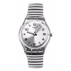 SWATCH GM416A - Silverall L - Jam Tangan Wanita - Bahan Tali Stainless Steel - Silver