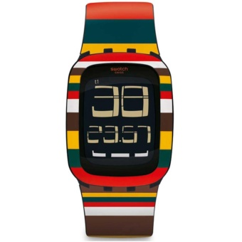 Swatch - Jam Tangan Pria - Many Color-Hitam - Rubber Many Color - SURB122