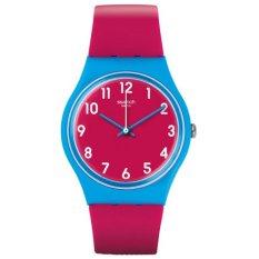 Swatch - Jam Tangan Wanita - Biru-Merah Muda - Rubber Merah Muda - GS145 Lampone