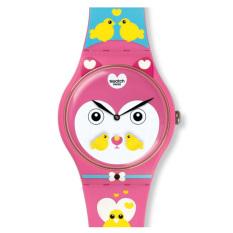 Swatch - Jam Tangan Wanita - Merah Muda - Rubber Merah Muda - SUOZ190