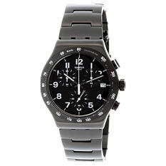 Swatch Men's Irony YVB402G Black Stainless-Steel Swiss Quartz Watch - Intl
