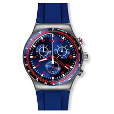 Swatch Men's YVS417 Analog Display Quartz Blue Watch - Intl