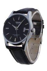 "SWIDU Classic Men""s Casual Quartz Electronic Leather Wrist Watch Black"