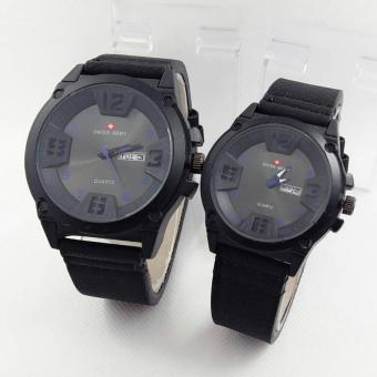Swiss Amry - Jam tangan Couple - SA 004 - Design Casual - Leather strap (