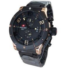 Swiss Army Chronograph SA2267 Jam Tangan Pria Stainless Steel Hitam Gold