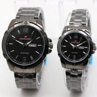 Swiss Army Couple - Jam Tangan Couple - Silver Stainless SA2455H