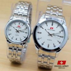 SWISS ARMY COUPLE SA-006 STAINLES FULL SILVER SWISS ARMY COUPLE SA-006 STAINLES FULL SILVER