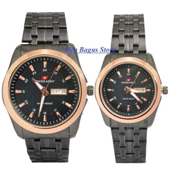 Swiss Army Couple - Stainless Steel - Black Gold - SA1221 Black Gold Couple