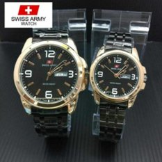Swiss Army Couple - Stainless Steel - Black - SA X-54321C- Black Gold Couple