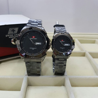 Swiss Army Couple - Stainless Steel - Black - SA1570-full Black Couple