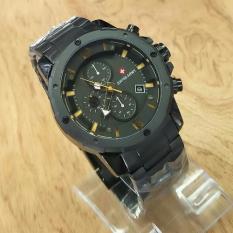 Swiss Army Crono Time - Jam Tangan Pria - Stainless Steel - SA29657 (Yellow)