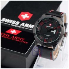Swiss Army D47H165Sa3769MHTMM Daydate Jam Tangan Pria Leather Strap Hitam .