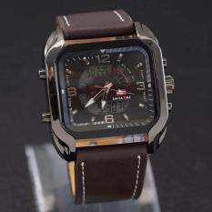 Swiss Army Dual Time - Jam Tangan Pria - Leather Strap - SA 84 HJ
