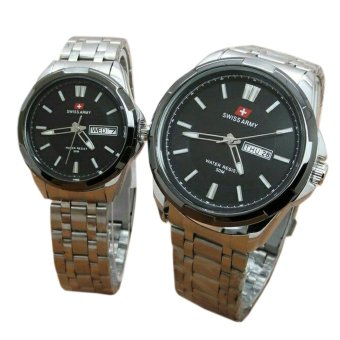 Silver Source · Swiss Army SA5153FG Jam Tangan Couple Stainlesstell Strap Source Swiss .