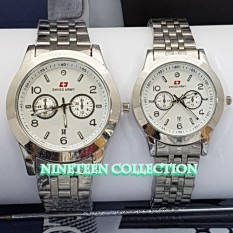 Swiss Army - Jam Tangan Couple Pria Wanita - Silver - Stainless Steel - SA1125GR6