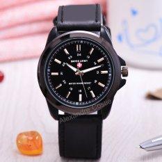 swiss army jam tangan pria body black dial leatehr strap sa bb 3821c kulit hitam