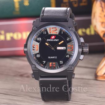 Swiss Army - Jam Tangan Pria - Body Black - Black/Orange Dial - SA
