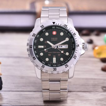 Stainless Steel Source · 6253 Tgl Source Swiss Army Jam Tangan Pria Body .