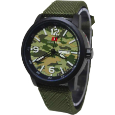 Swiss Army Jam Tangan Pria - Leather Strap - SA 8811 Army