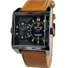 Swiss Army - Jam Tangan Pria - Leather Strap Swiss Army - Jam Tangan Pria - Leather Strap -SA 1747- Cokelat Muda
