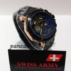 Swiss Army - Jam Tangan Pria - Stainless Steel - SA 6969 Black Gold