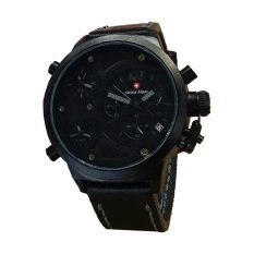 Swiss Army Jam Tangan Pria - Strap Kulit - Hitam - SA098-3T