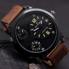 Swiss Army Jam Tangan Pria Triple Time - Leather Strap - SA 70704 AD