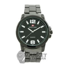 Swiss Army Men's - Jam Tangan Pria - SA 5085 MB Body + Dial Hitam - Hitam - Stainless Steel