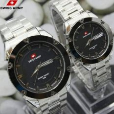 Swiss Army Original Couple - Stainless Steel - Silver - SA1570 Swiss Army Couple - Stainless Steel - Silver - SA1570