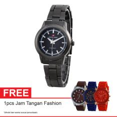 Swiss Army Quartz Watch SA 6033L FB Free Jam Tangan Fashion - Jam Tangan Wanita - Hitam