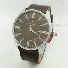 Swiss Army - S4124ND - Date - Jam Tangan Pria Leather Strap