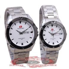 Swiss Army - SA 0008 - Jam Tangan Couple - Stainless - (Silver)