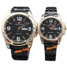 Swiss Army - SA0081C - Jam Tangan Couple - Stainless - ( Hitam Rose )