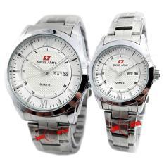 Swiss Army - SA0111C - Jam Tangan Pasangan - Stainless Steel - Silver